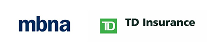 MBNA and TD Insurance logos
