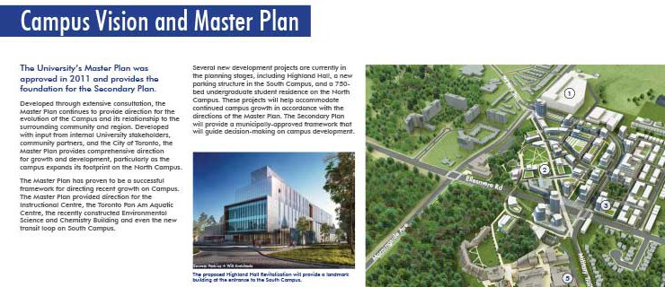 Cover of campus secondary plan