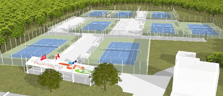 Artist rendering of the new tennis centre by The MBTW Group