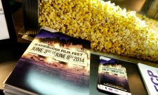 Popcorn and programs. Photo by Dan Truong 2014.