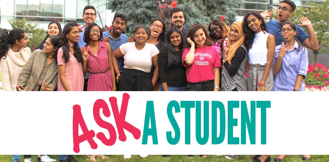 ask a student banner