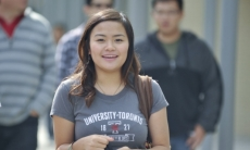 Smiling Student on Campus