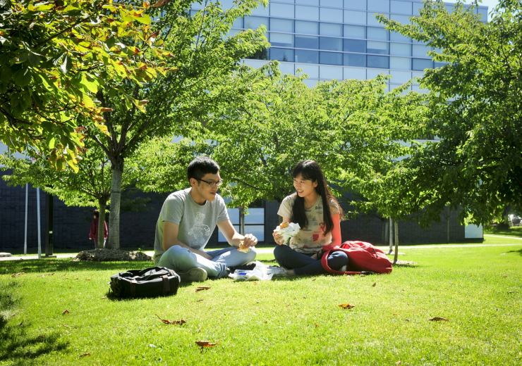 students picnicking