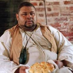Micheal Twitty with baked rolls