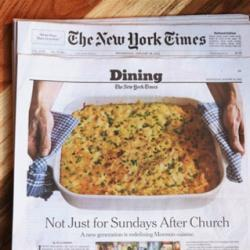 New York Times newspaper; Dining section