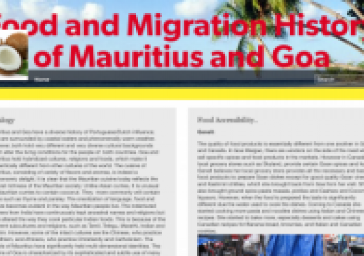 food and migration history