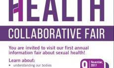 poster with text sexual health collaborative fair with details