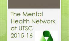 pdf for the mental health network at UTSC
