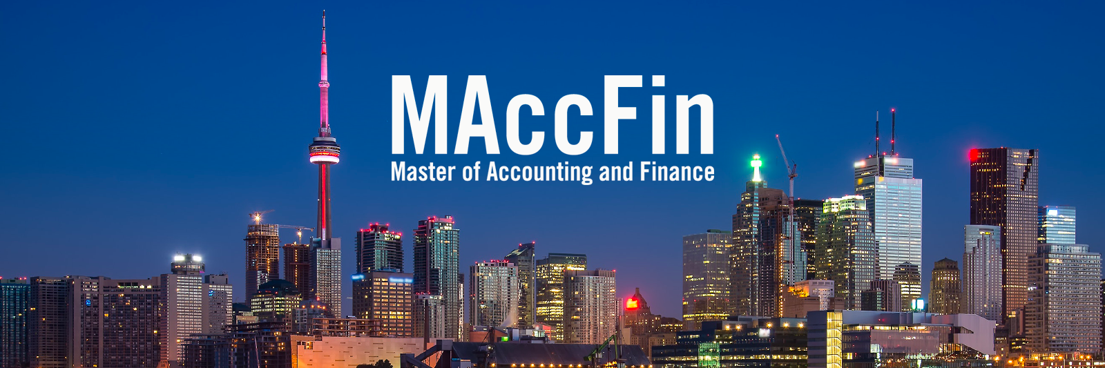 Master of Accounting and Finance (MAccFin)