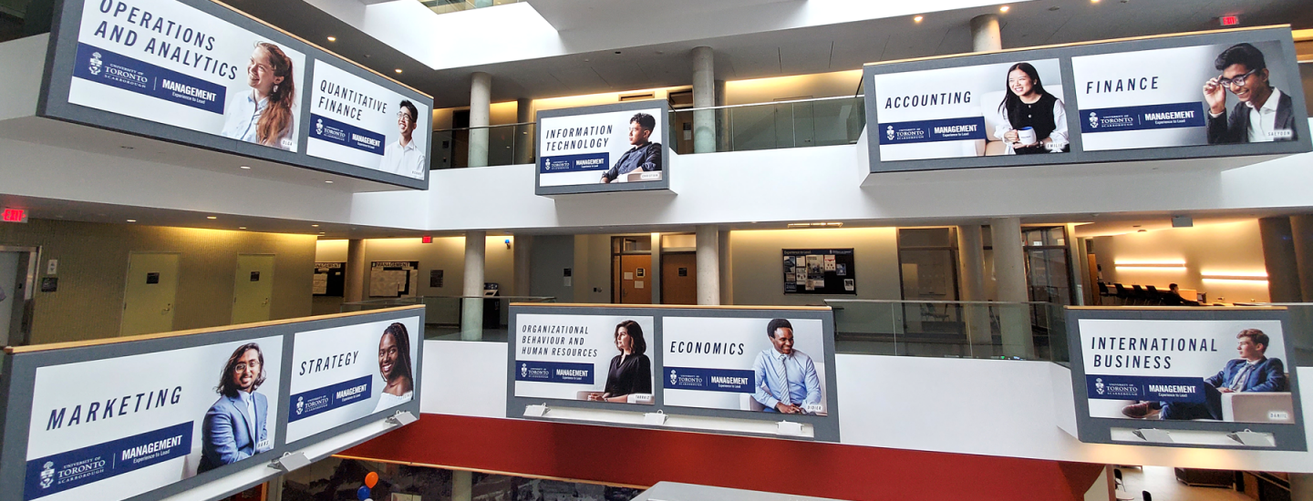 Banner of Management at U of T Scarborough