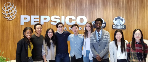 CiQuinya with her co-op colleagues at PepsiCo Canada