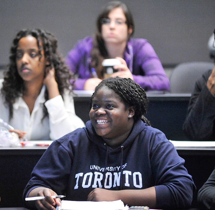 UTSC students in a lecture