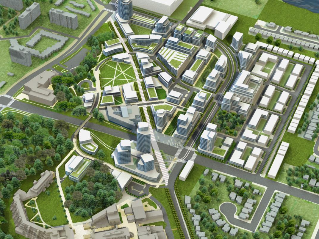 artist rendering of UTSC campus development