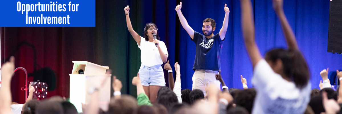 Photo of residence students attending Residence Orientation Welcome in August 2019.