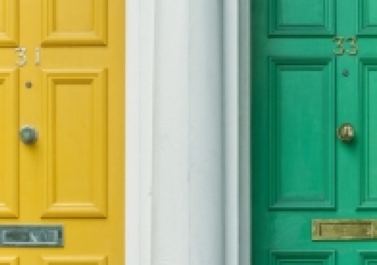 Brightly coloured doors.